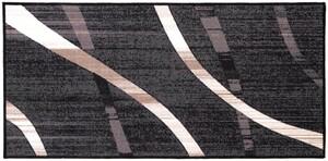 Bella Casa Schmutzfangläufer, bedruckt, ca. 67 x 140 cm - Streifen grau/weiß