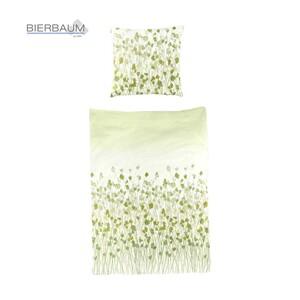 Mako-Satin-Bettwäsche versch. Dessins,  100 % Baumwolle, 135 x 200/80 x 80 cm