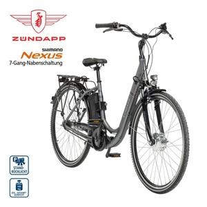 Alu-Elektro-Fahrrad Green 3.0 26er oder 28er - Fahrunterstützung bis ca. 25 km/h - Li-Ionen-Akku mit hochwertigen Markenzellen 36 V/10,4 Ah, 374 Wh - Reichweite: bis zu 100 km (je nach Fahrweise) -
