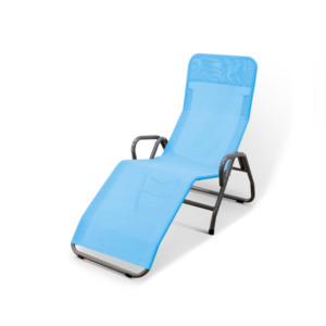 Entspannungsliege 'Pool III' blau, 71 x 147,5 x 112,5 cm