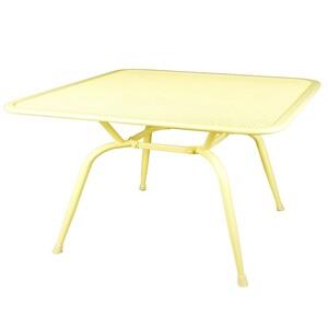 Gartentisch Metall gelb 160x90x74cm Elotherm-Pulverbeschichtung wetterfest