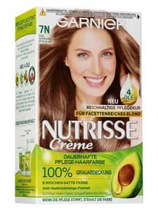 Garnier Nutrisse Dauerhafte Pflege-Haarfarbe - Nude Natürliches Mittelblond