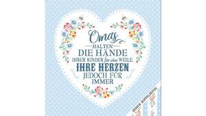 Geschirrtuch - Omas halten die Hände ihrer Kinder für eine Weile, Ihre Herzen jedoch für immer