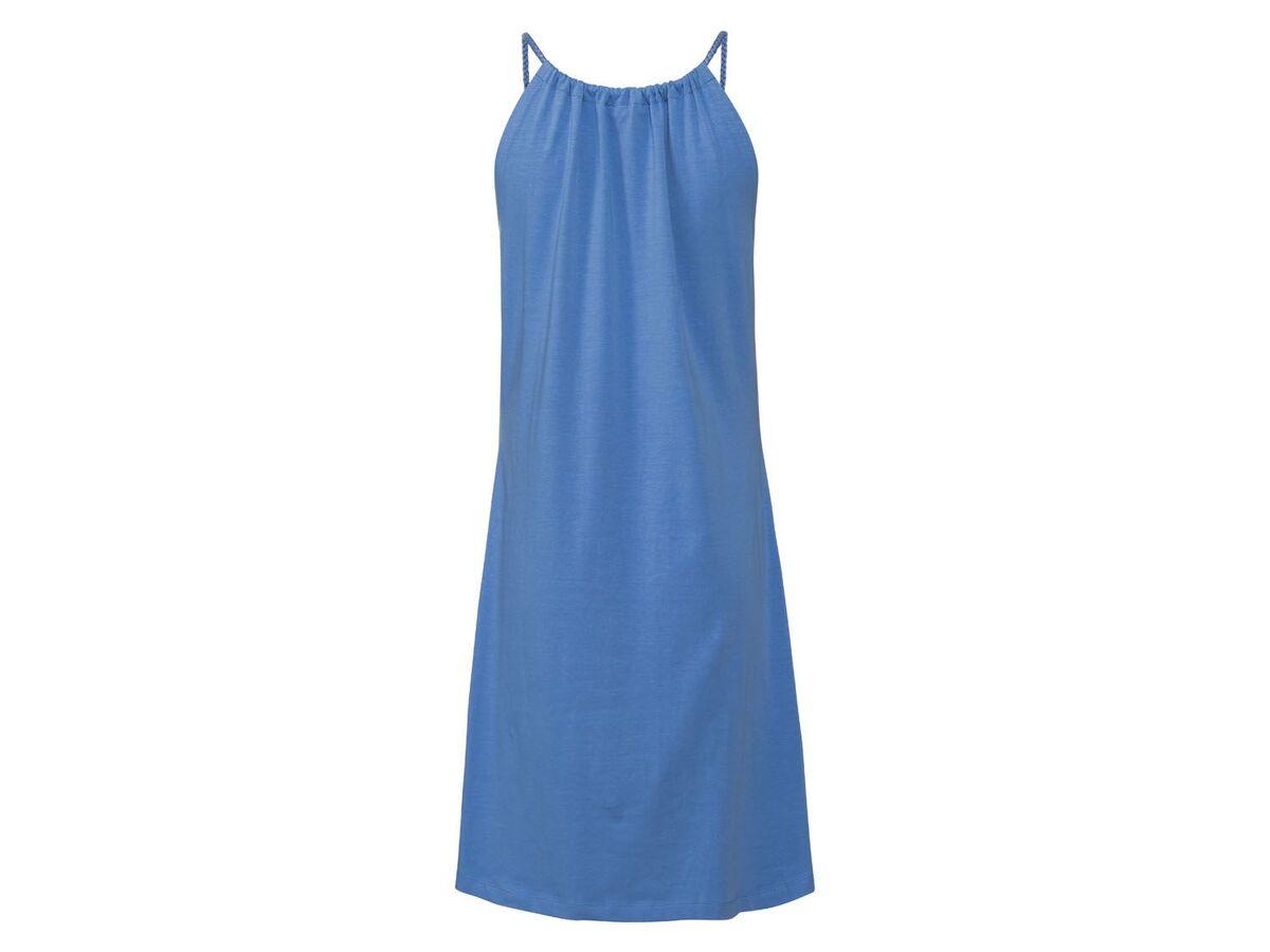 Bild 4 von ESMARA® Kleid Damen, Rundhalsausschnitt, mit Baumwolle und Elasthan