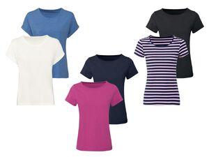 ESMARA® T-Shirt Damen, 2 Stück, mit Baumwolle und Elasthan