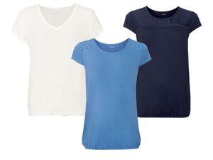 ESMARA® T-Shirt Damen, mit Lochspitze, aus Viskose und Elasthan