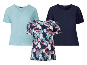 ESMARA® T-Shirt Damen, mit seitlichen Schlitzen, aus Leinen und Viskose