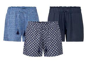 ESMARA® Shorts Damen, Gummizugbund mit Kordel, aus Viskose