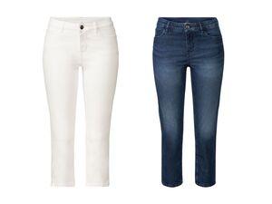ESMARA® Capri Jeans Damen, Skinny Fit, in 5-Pocket-Style, aus Bio-Baumwolle und Elasthan