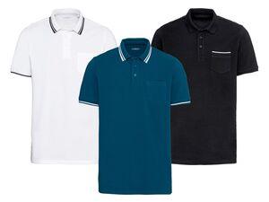 LIVERGY® Poloshirt Herren, Regular Fit, mit Brusttasche, aus reiner Baumwolle