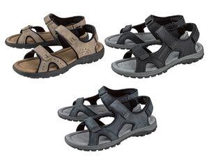 LIVERGY® Sandale Herren, G-Weite, flexible Footflexx-Laufsohle, Lederdecksohle