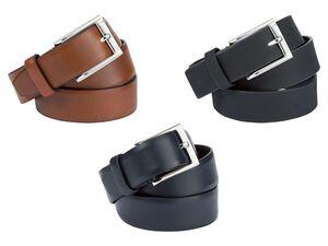 LIVERGY® Gürtel Herren, mit Stegschließe, aus Leder