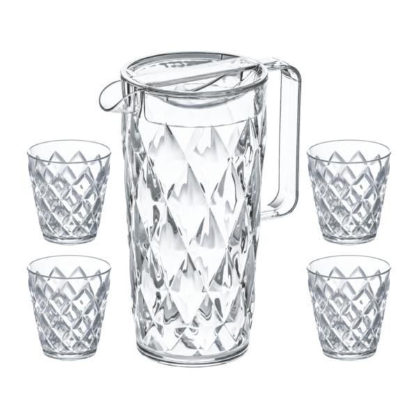 Koziol Trinkkanne mit Gläsern