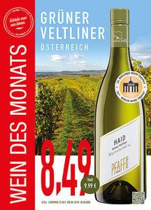 Grüner Veltliner Weingut Pfaffl Weinviertel, Österreich