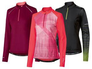 CRIVIT® Funktionsshirt Damen, mit reflektierenden Details, Antirutschband, 3 Taschen