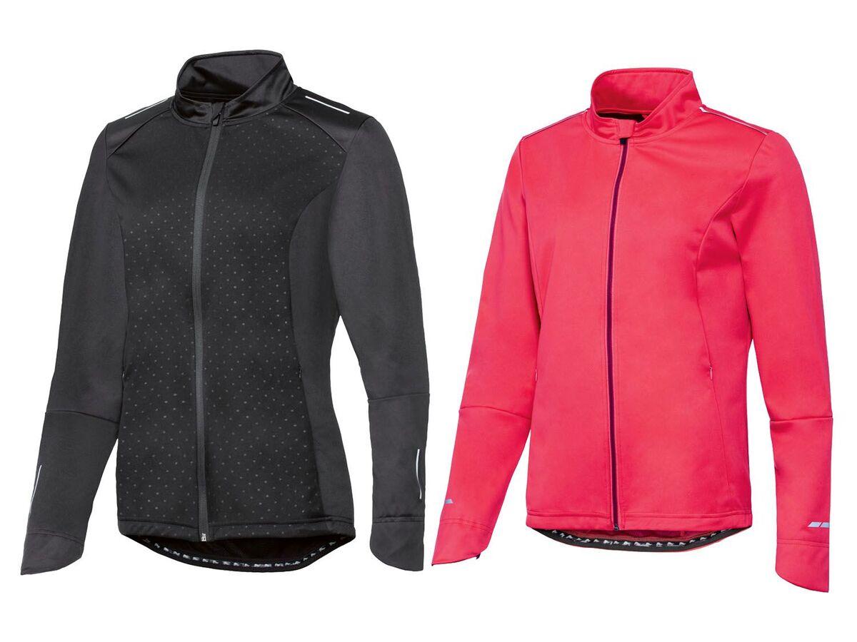 Bild 1 von CRIVIT® Allwetterjacke Damen, Rückentasche mit Reißverschluss, aus Softshell-Material