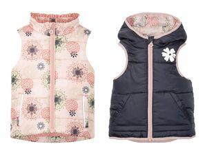 LUPILU® Kleinkinder Steppweste Mädchen, mit reflektierenden Details, Fleece-Teilfutter