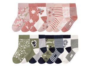 LUPILU® Kleinkinder Socken Mädchen, 7 Paar, mit Baumwolle und Elasthan