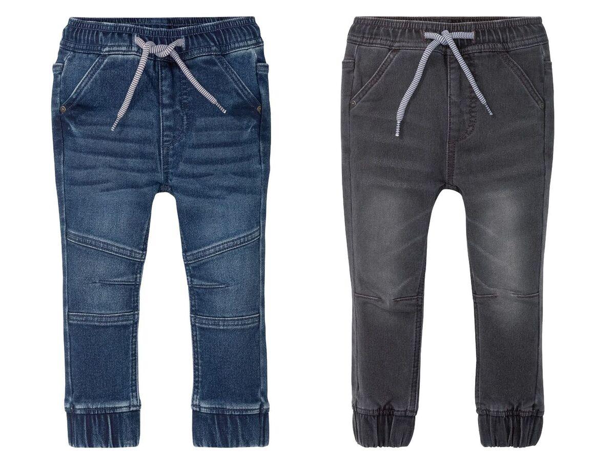 Bild 1 von LUPILU® Kleinkinder Sweathose Jungen, in Jeans-Optik, mit Gummizugbund, mit Baumwolle
