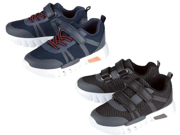 LUPILU® Kleinkinder Sneaker Jungen, mit Blink-Effekt, Klettverschluss, Textilfutter