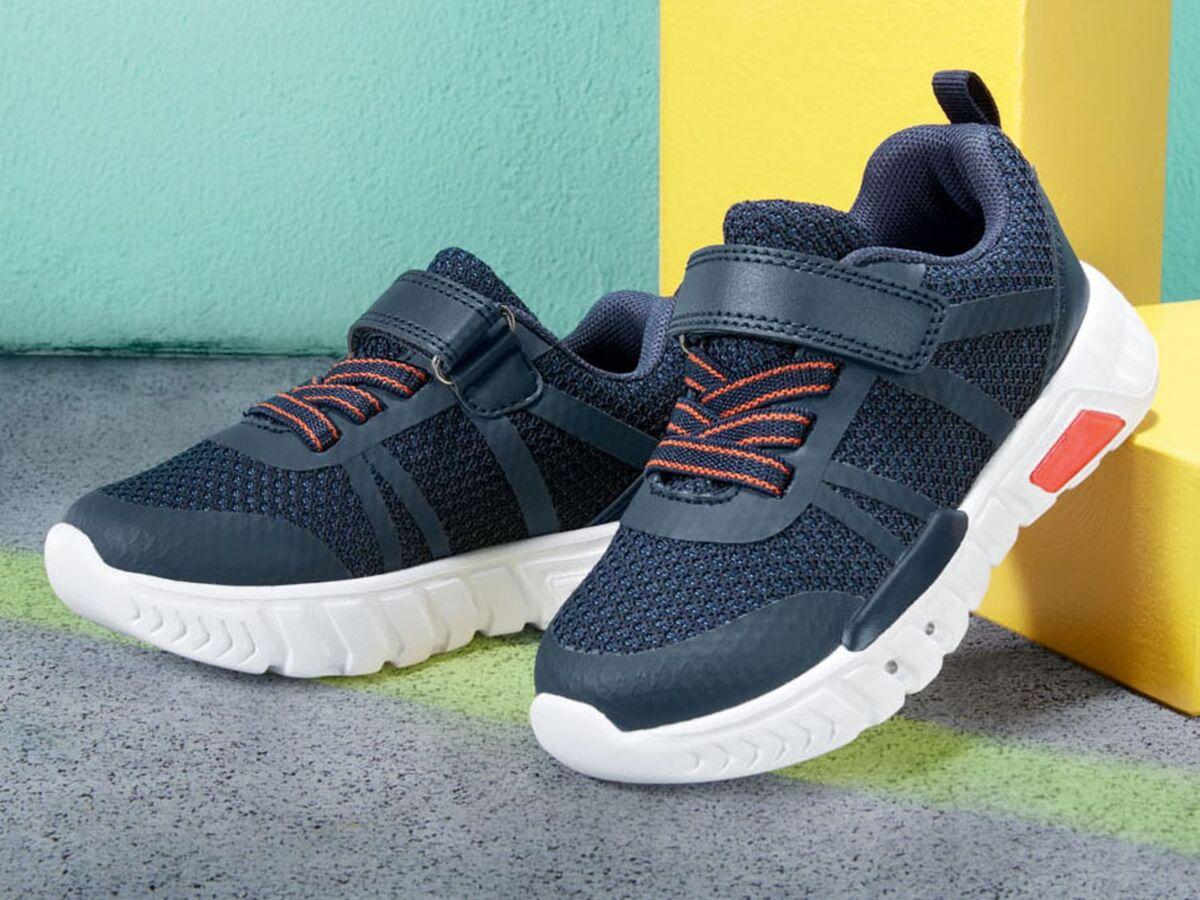 Bild 3 von LUPILU® Kleinkinder Sneaker Jungen, mit Blink-Effekt, Klettverschluss, Textilfutter