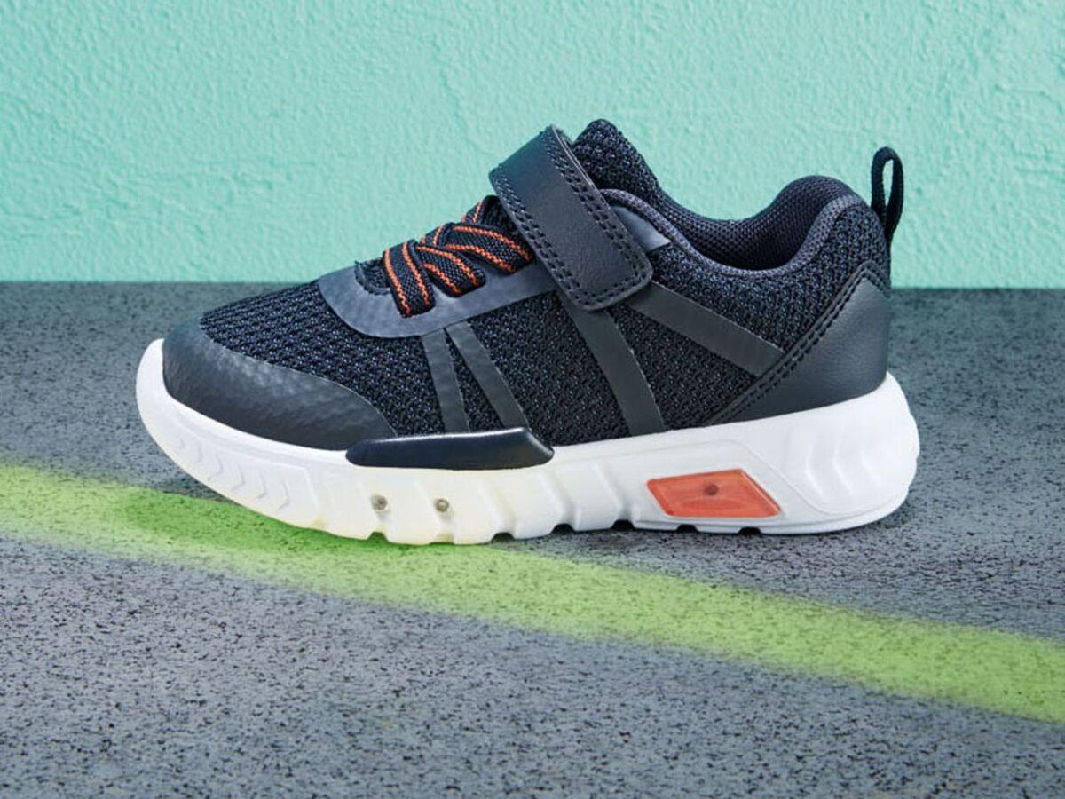 Bild 5 von LUPILU® Kleinkinder Sneaker Jungen, mit Blink-Effekt, Klettverschluss, Textilfutter