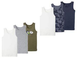 LUPILU® Kleinkinder Unterhemd Jungen, 3 Stück, mit Baumwolle