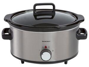 SILVERCREST® Slow Cooker, 320 Watt, 6 l Fassungsvermögen, mit 2 Garstufen, Keramiktopf