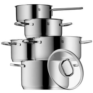 WMF Intension Topfset 5-teilig mit Glasdeckel, Kochtopf, Stielkasserolle, Cromargan Edelstahl poliert, Induktion, spülmaschinengeeignet edelstahl