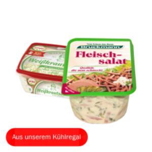 Bruckmann Fleischsalat oder Popp Krautsalat
