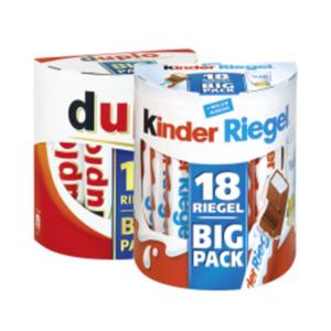 Duplo, Kinder Riegel Big Pack, oder Schoko Bons