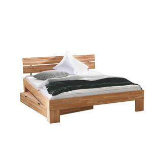 Hasena Bett kernbuche massiv 180/200 cm  , Woodline , Buchefarben , Holz , 180x200 cm , geölt,Echtholz , 001972016135