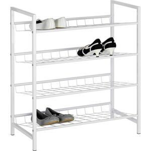 Boxxx Schuhregal weiß  , Jana , Metall , 63x70x30 cm , lackiert , 000640014601