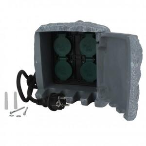 Unitec Steckdosen-Verteiler Stein ,  4Std H07RN-F3G1,5mm²