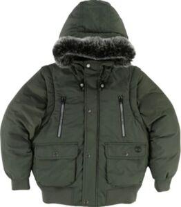 2 - in 1 Winterjacke  grün Gr. 140 Jungen Kinder