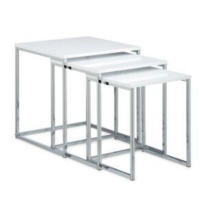 Beistelltische 3er Set Metallbeine weiß