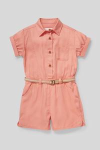 C&A Lyocell-Jumpsuit mit Gürtel, Rot, Größe: 158