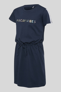 C&A Kleid-Glanz-Effekt, Blau, Größe: 158/164