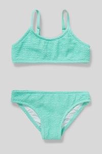 C&A Bikini-2 teilig, Grün, Größe: 122/128