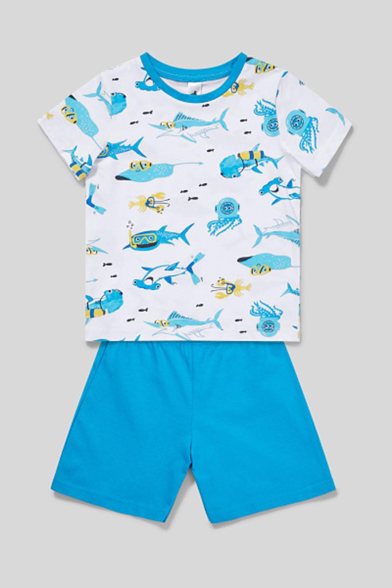 Bild 2 von C&A Shorty-Pyjama-Bio-Baumwolle-2 teilig, Weiß, Größe: 134
