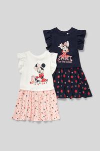 C&A Minnie Maus-Kleid-Bio-Baumwolle-2er Pack, Blau, Größe: 92