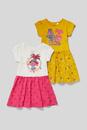 Bild 1 von C&A Trolls-Kleid-Bio-Baumwolle-2er Pack-Glanz-Effekt, Weiß, Größe: 140