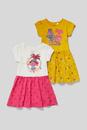 Bild 2 von C&A Trolls-Kleid-Bio-Baumwolle-2er Pack-Glanz-Effekt, Weiß, Größe: 140