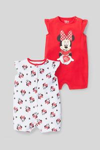 Minnie Maus - Baby-Schlafanzug - Bio-Baumwolle - 2er Pack