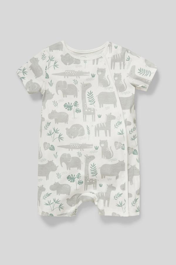 C&A Baby-Schlafanzug-Bio-Baumwolle, Weiß, Größe: 92