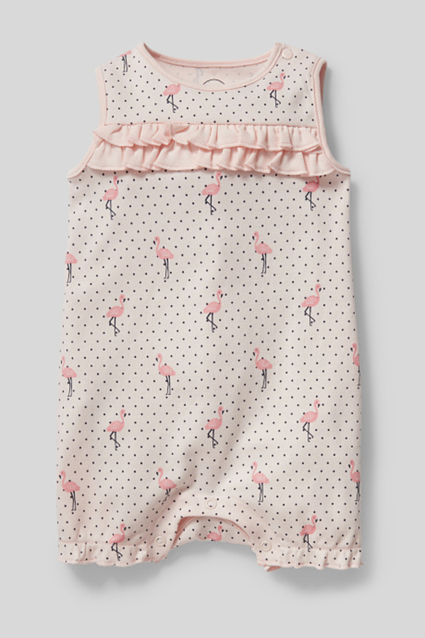 C&A Baby-Schlafanzug-Bio-Baumwolle, Rosa, Größe: 92