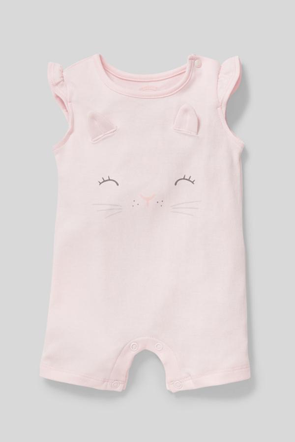 C&A Baby-Schlafanzug-Bio-Baumwolle, Rosa, Größe: 68