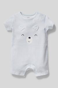 C&A Baby-Schlafanzug-Bio-Baumwolle-gestreift, Weiß, Größe: 68
