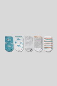 C&A Baby-Sneakersocken-5 Paar, Weiß, Größe: 21/23