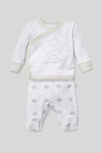 C&A Erstlingsoutfit-Bio-Baumwolle-2 teilig, Weiß, Größe: 68